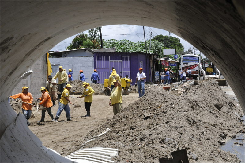 MOP por concluir obras de mitigación por cárcava en Colonia 10 de Octubre, San Marcos
