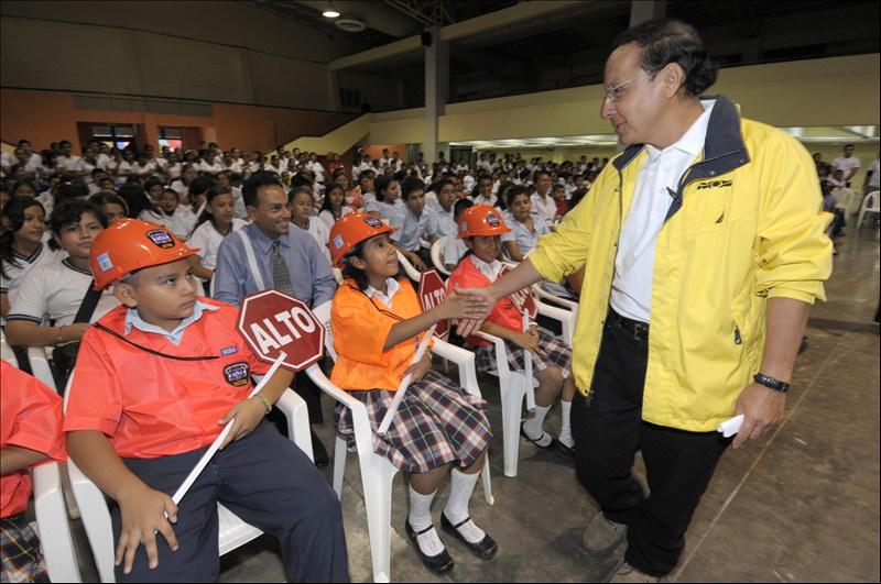 El Ministro de Obras Públicas, Gerson Martínez, clausurará hoy el Primer Festival Infantil de Seguridad Vial