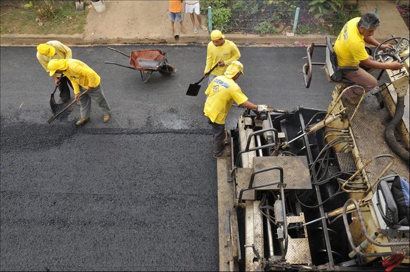 70 % de avance obras de pavimentación en calles de Zacatecoluca