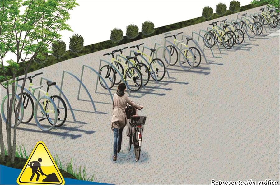 MOP construye estacionamiento para bicicletas y vehículos en carril auxiliar Bulevar Monseñor Romero