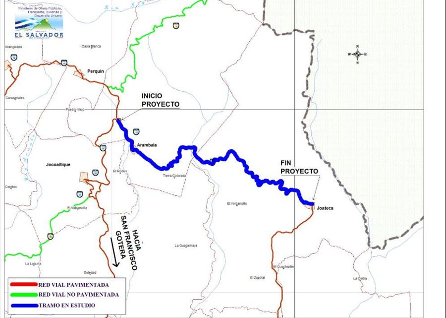 MOP inicia el mejoramiento del camino rural Tramo: Arambala-Joateca, Morazán