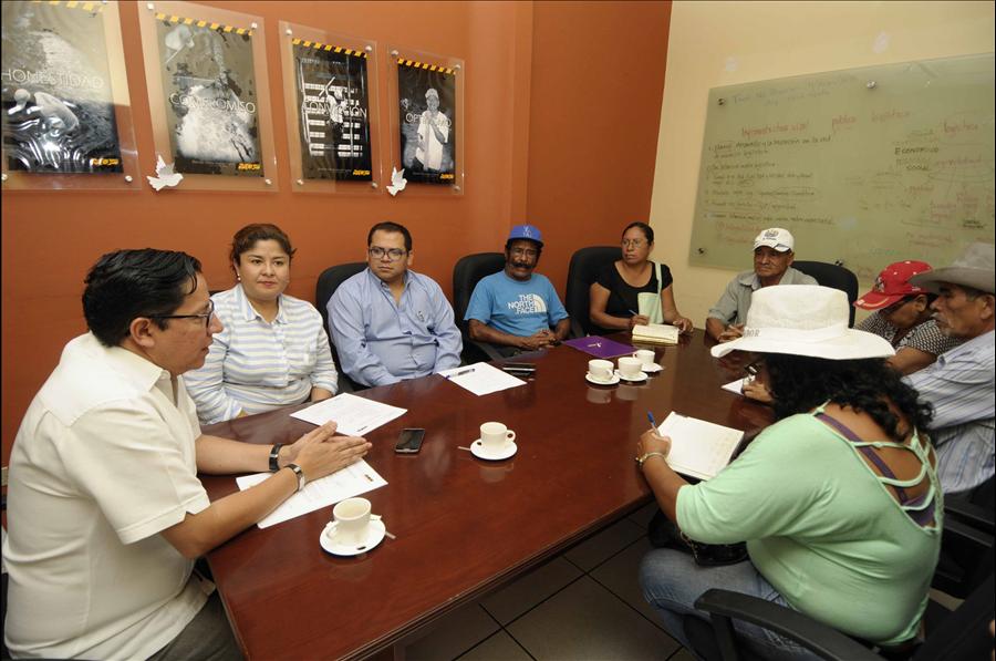 MOP se reúne con comunidades de Lourdes, Colón, La Libertad