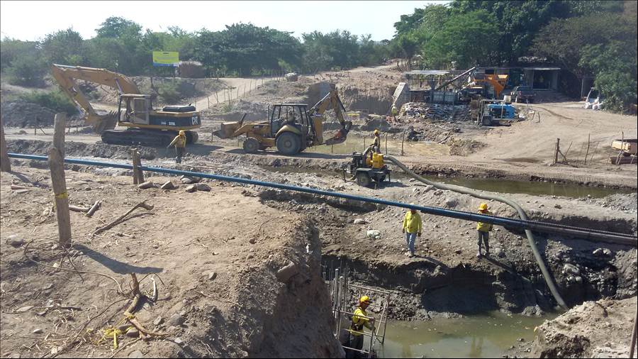 48% de avance construcción de Puente Tihuapa, en Carretera El Litoral, Cantón Cangrejera, La Libertad