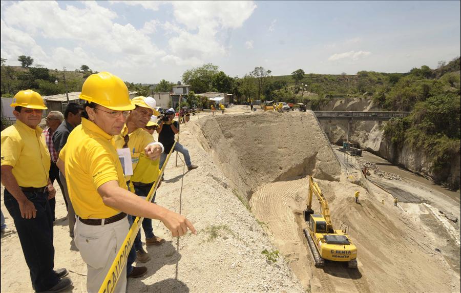 75% de avance en obras de protección definitivas en Reparto El Pepeto III