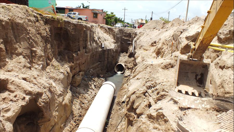 MOP y municipalidad de Cuscatancingo reparan cárcava en Urbanización Ciudad Futura Fase II