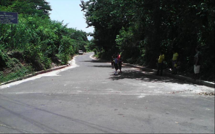 MOP finaliza pavimentación tramo de calle antigua a San Pablo Tacachico, Aguilares, San Salvador