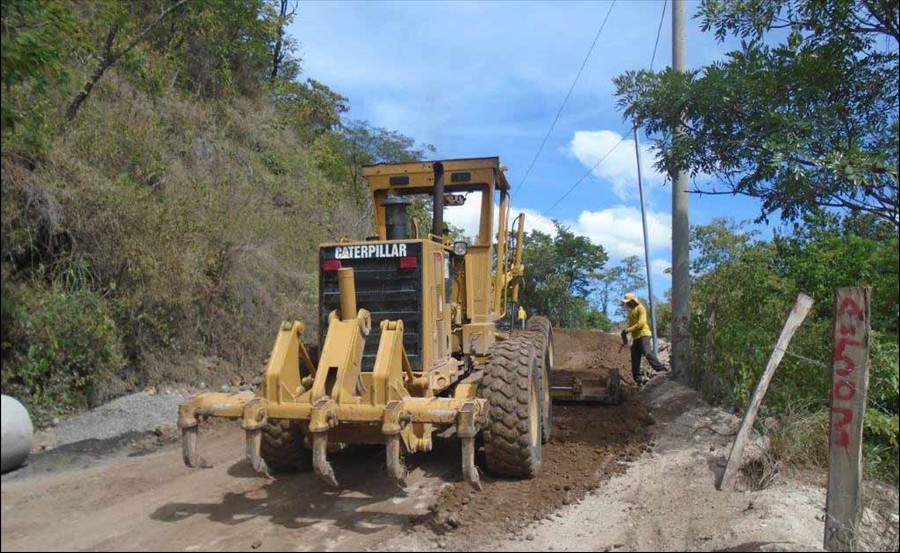 MOP repara carretera Arambala-Joateca, Morazán