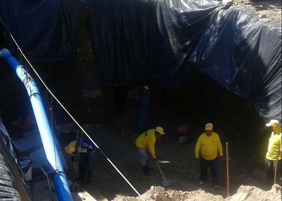 MOP avanza en obras de protección por cárcava Ciudad Futura, Cuscatancingo