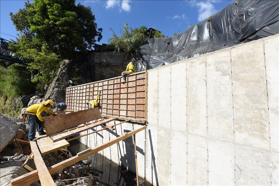 75 % de avance en obras de protección Colonia Las Margaritas, San Jacinto