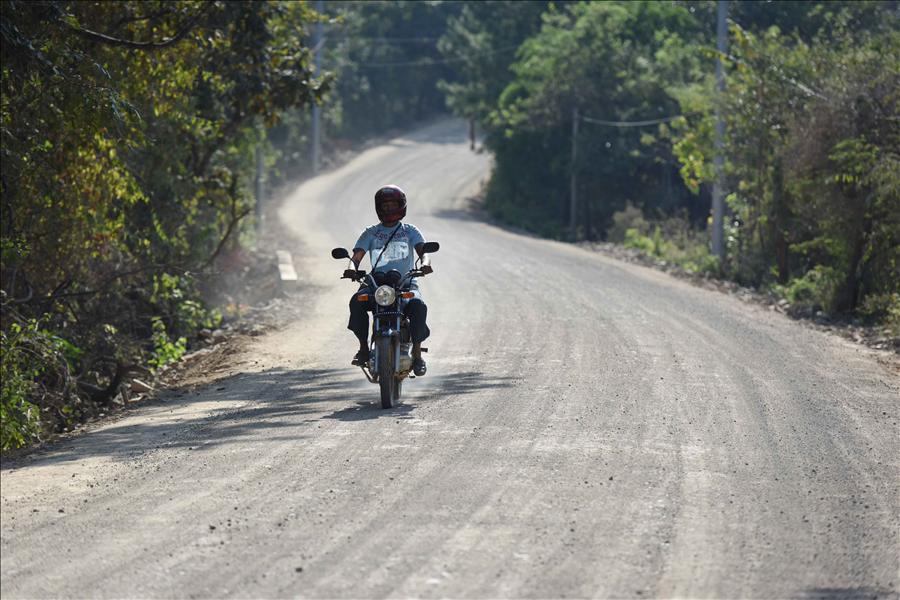 MOP concluye obra mejoramiento de carretera Arambala-Joateca, Morazán