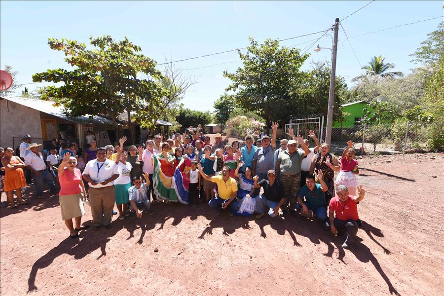 MOP entrega obras de reparación de calles a Comunidad Nuevo Gualcho, Nueva Granada, Usulután