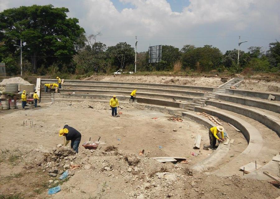 65% de avance construcción obras hidráulicas y de drenaje en Plaza La Transparencia, Antiguo Cuscatlán, La Libertad