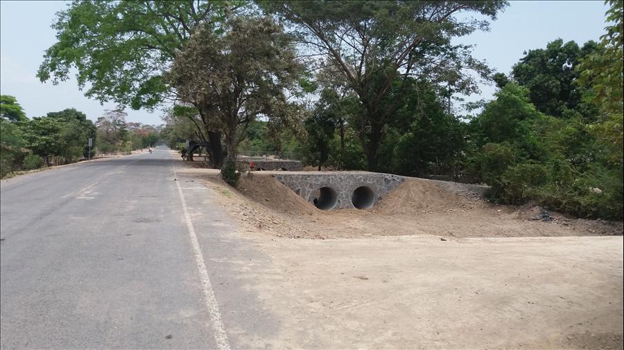 MOP concluye construcción obras complementarias en carretera San Carlos Lempa hacia La Pita, Tecoluca, San Vicente