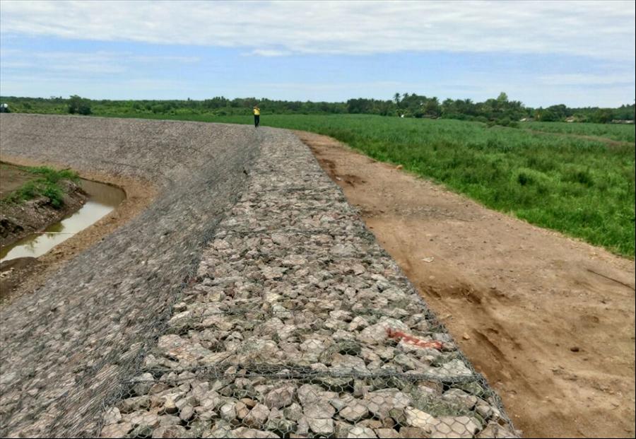 MOP concluye etapa II construcción de bordas sobre Río Grande de San Miguel, en municipio de Puerto Parada, Usulután