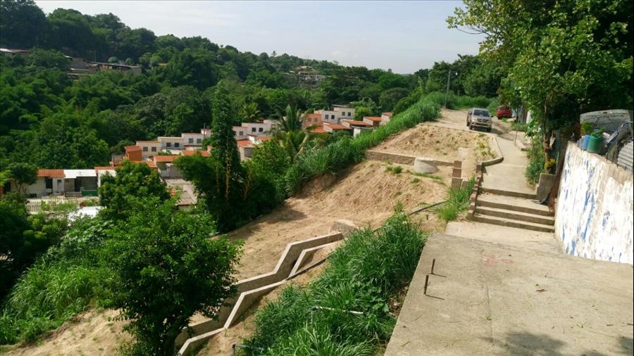 MOP finaliza obras de protección por cárcava en Lotificación Campo Amor, Cuscatancingo, San Salvador