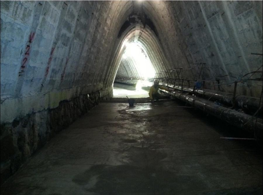 90% de avance en  reparación de daños de bóveda sobre quebrada Chilismuyo, San Salvador