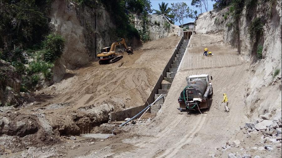 90% de avance en obras de protección por cárcava en Comunidad Santa María San Martín, San Salvador