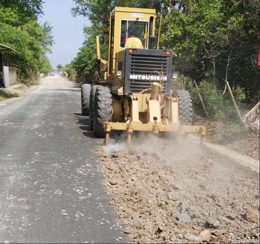 MOP pavimenta 3.3 kilómetros de zona turística en Jucuarán, Usulután
