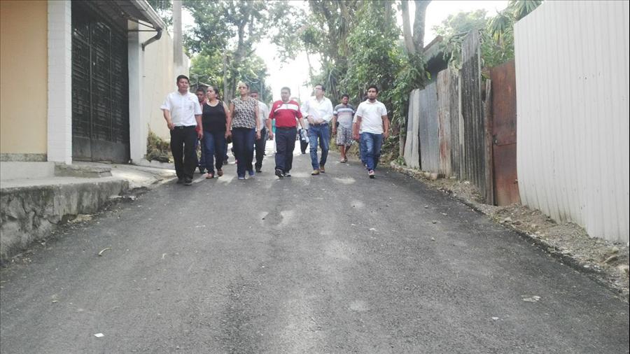 MOP entrega la pavimentación de 710 metros en Colonia El Algodón, Ciudad Delgado