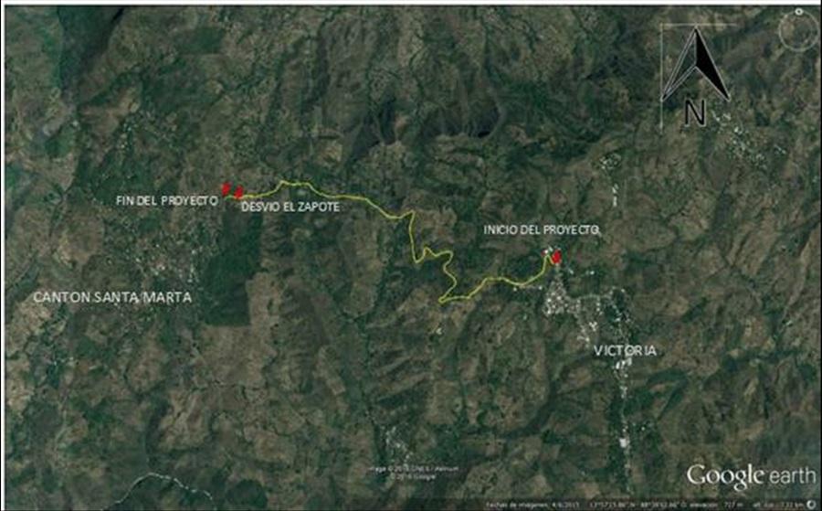 MOP inicia el mejoramiento de 4.8 kilometros del camino Tramo: Victoria-Caserío Santa Marta, Cabañas