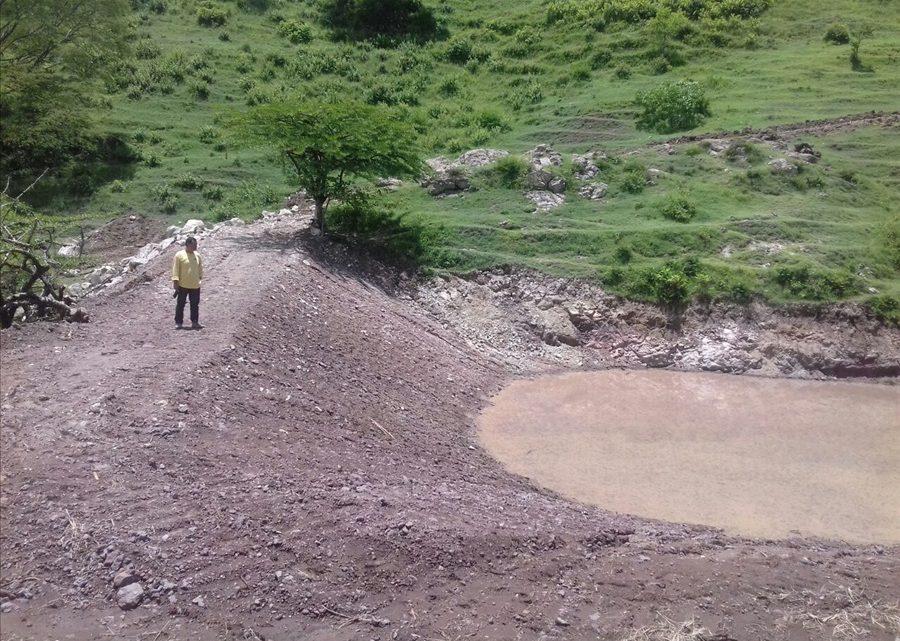 MOP construye estanques de captación de agua lluvia en El Sauce, La Unión