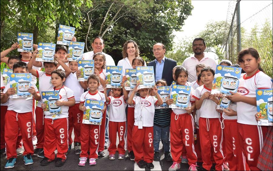 MOP entrega kit de educación vial infantil promovido por movimiento público, privado y ciudadano