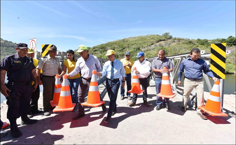 MOP habilita paso sobre puente El Jobo, Frontera Las Chinamas