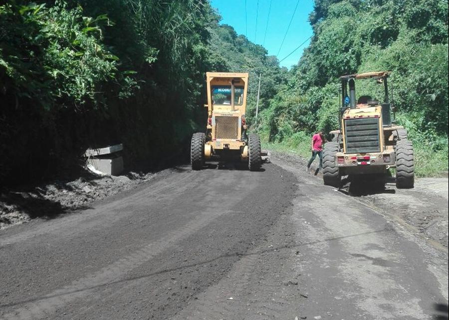MOP pavimenta calle Cantón San Isidro, Panchimalco, San Salvador