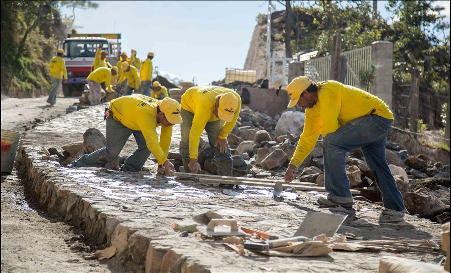 89% de avance en proyecto calle Cantón Tejera-Paso El Mono, Arambala, Morazán