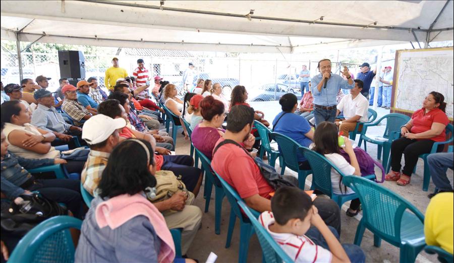 MOP informa a ciudadanía sobre proyecto pavimentación de 11 kilómetros ruta El Coco-Chalchuapa, Santa Ana