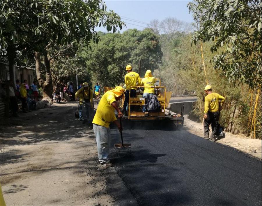 66% de avance en pavimentación de calle Cantón San Isidro, Panchimalco   San Salvador