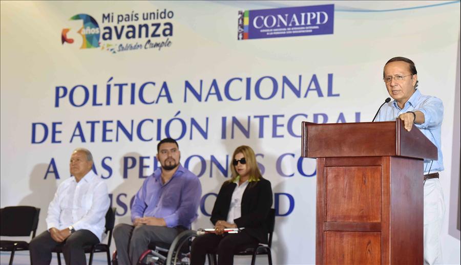 Presidente de la República realiza lanzamiento de Política Nacional de Atención Integral a las personas con discapacidad