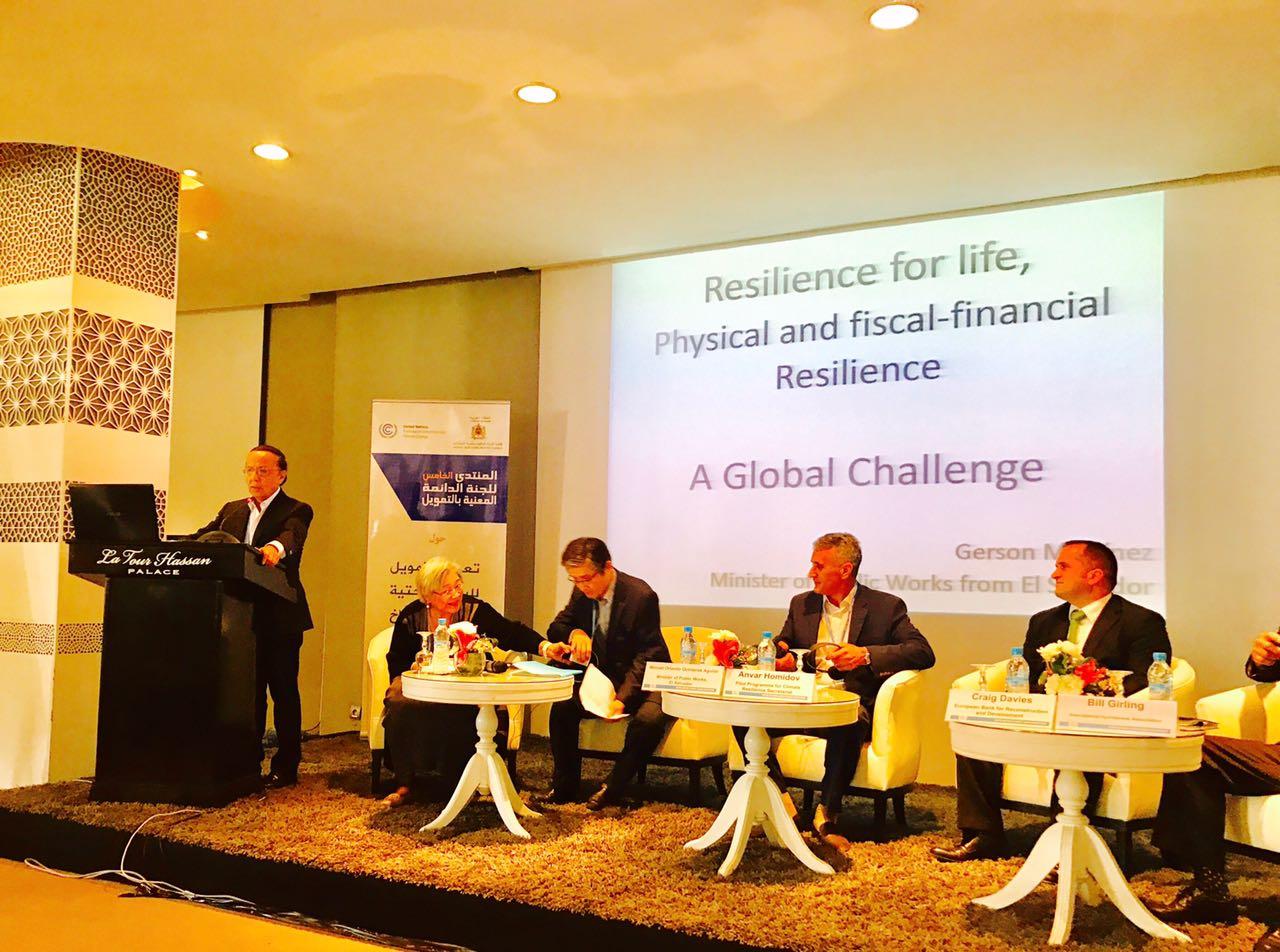 El Salvador participa en Foro de Finanzas organizado por Convención Marco de ONU para Cambio Climático en Marruecos, África