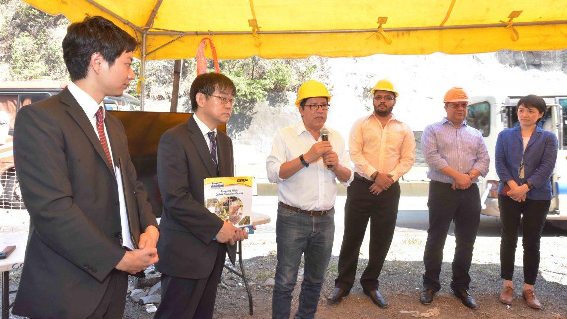 MOP y Japón informan sobre obras de protección en talud rocoso y sistema de alerta en carretera a Los Chorros