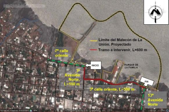 MOP inicia proyecto mejoramiento calle de acceso al Malecón La Unión