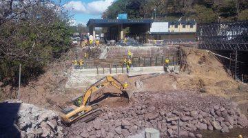 24% de avance en construcción nuevo puente fronterizo Anguiatú, Metapán