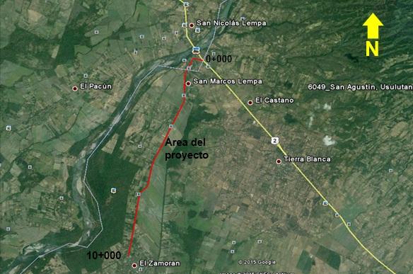 MOP licita construcción y supervisión del proyecto Camino Rural Tramo Desvío San Marcos Lempa-desvío el Zamorán, Jiquilisco, Usulután