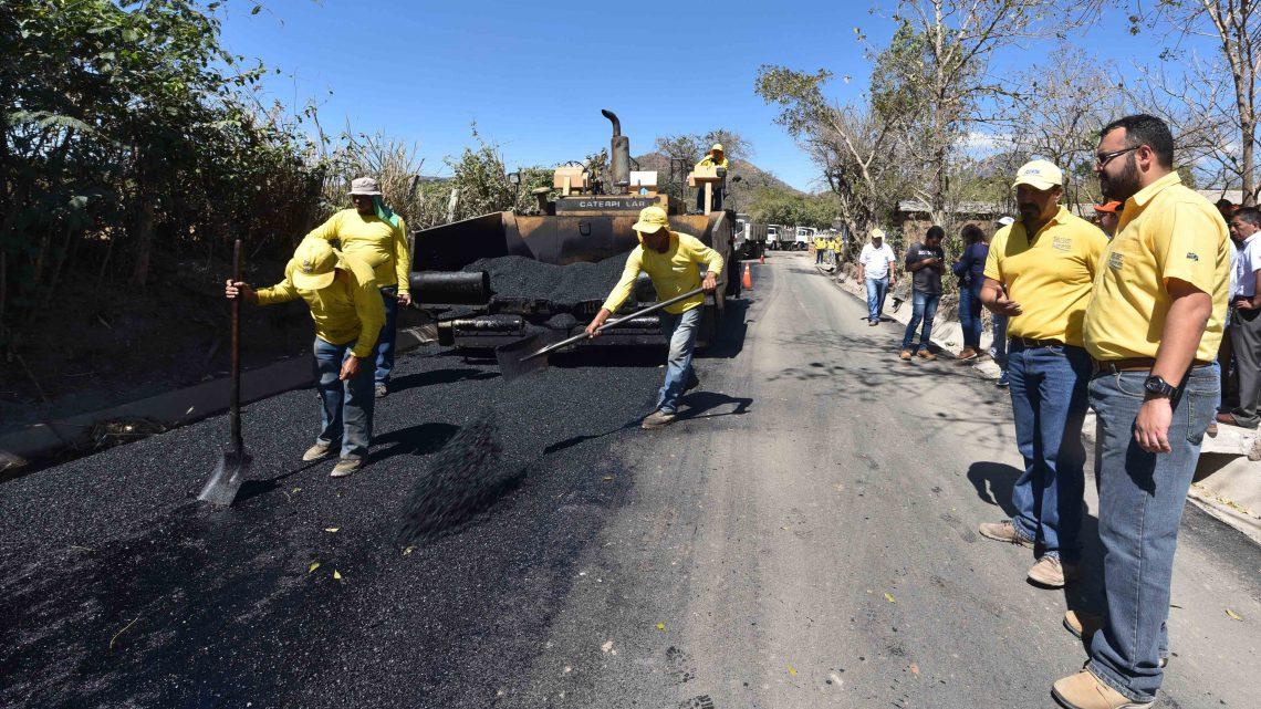MOP pavimenta 2 kilómetros más de carretera El Coco, Chalchuapa