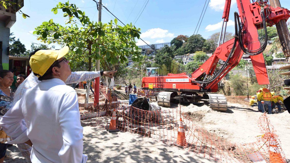 33% de avance construcción Puente Los Almendros, Ciudad Delgado San Salvador
