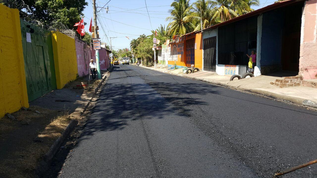 MOP concluye pavimentación de 490 metros calle San Rafael Oriente       San Miguel