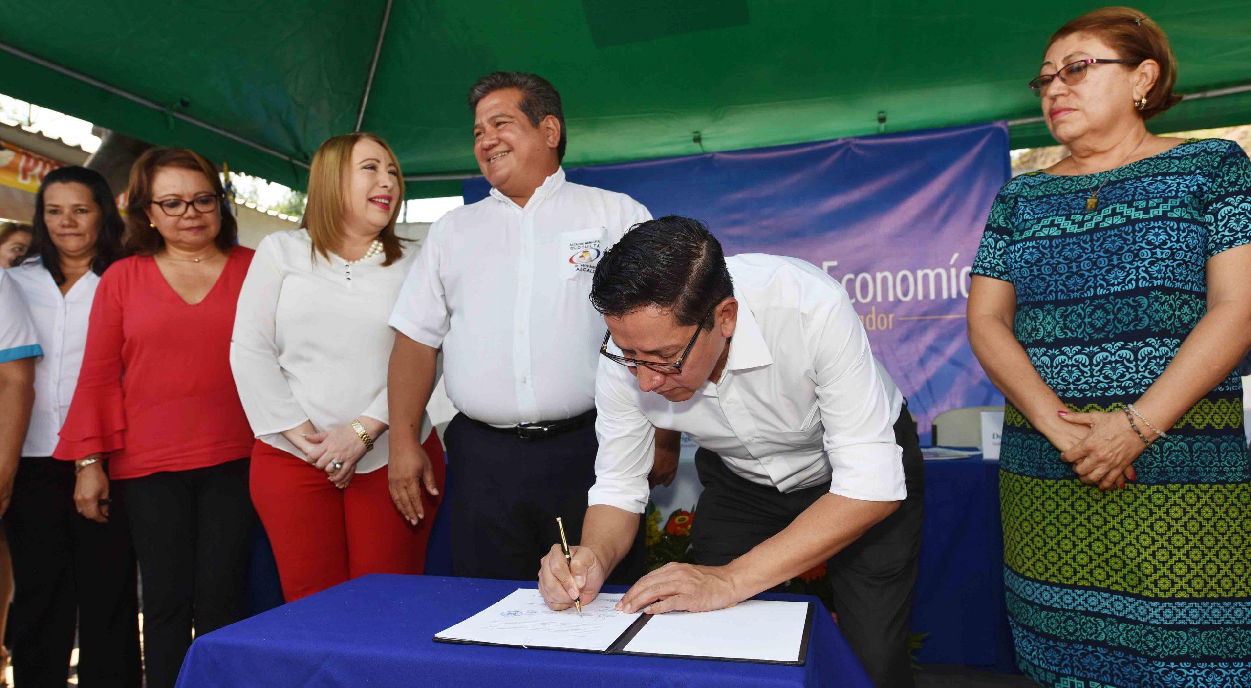 """MOP autoriza a municipalidad de Olocuilta administración de derechos de vía para la ejecución del proyecto """"Corredor eco-turístico de Olocuilta"""""""
