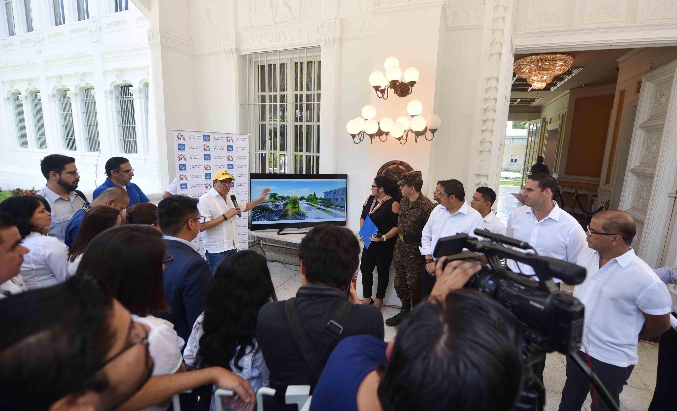 Vicepresidencia y MOP inspeccionan obras Fase I de Proyecto Cultural Centro Histórico de San Salvador y su función habitacional