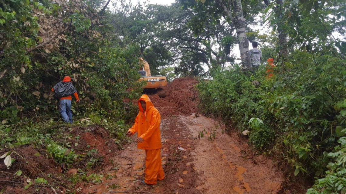 MOP-FOVIAL trabajan para restablecer conectividad en ruta Arambala-Joateca, afectada por derrumbes