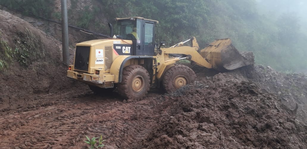 MOP-FOVIAL habilitan carretera Arambala-Joateca y continúan en alerta emergencia por lluvias