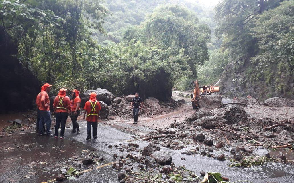 MOP y FOVIAL atiende emergencias por lluvias a nivel nacional