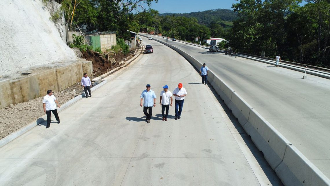 60 % de avance ampliación a 4 carriles Carretera al Puerto de La Libertad