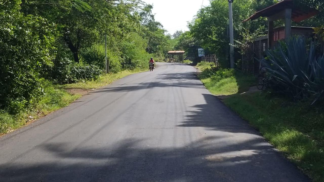 MOP concluye pavimentación de 1.2 kilómetros de la calle del Esterón al Cuco, Chirilagua, San Miguel
