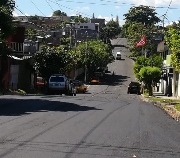 MOP culmina recarpeteo en calle México, San Jacinto, San Salvador