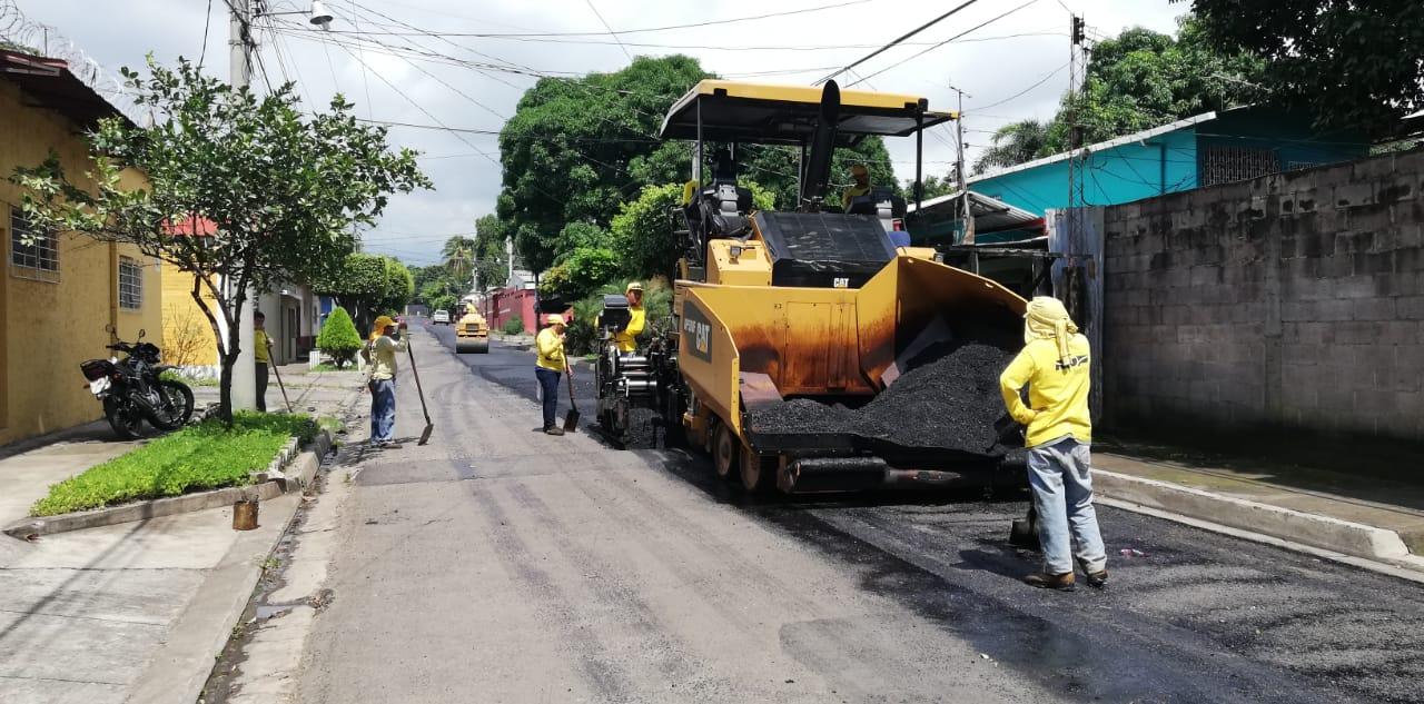 MOP recarpetea 2 kilómetros de Avenida Centroamericana, Sonsonate
