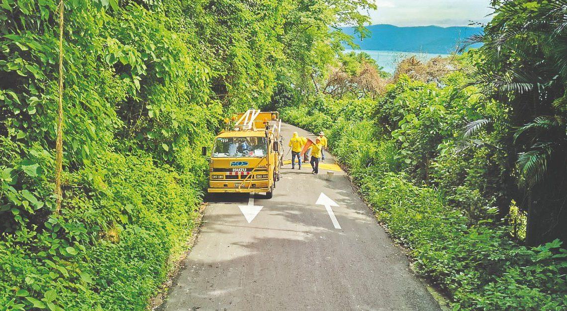 MOP concluye pavimentación de 1.5 km de ruta corta al Lago de Coatepeque, El Congo, Santa Ana